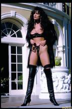 Julie Strain posa al aire libre con una lencería negra, foto 3