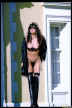 Julie Strain posa al aire libre con una lencería negra, foto 4