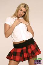 Striptease de una colegiala llamada Tiffany Rayne, foto 4
