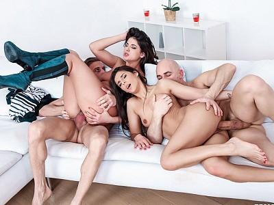 Angela Allison y Coco de Mal,Chris Diamond y Cristian Devil