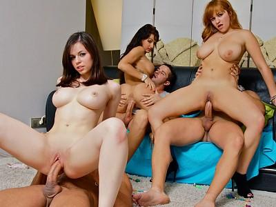 Samantha Leoni,Nekane,Susi Gala y Gigi Love,Moisex,Juan-Z,Nick Moreno y Marco Banderas