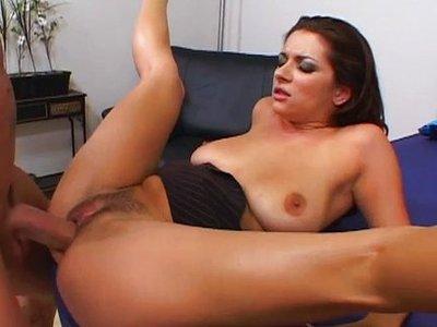 Girl sucking old mans cock
