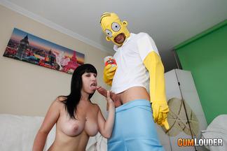 Brenda Boop en un anal con Moisex disfrazado de Homer, foto 6